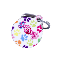 Round Pet Tag w. backgrounds