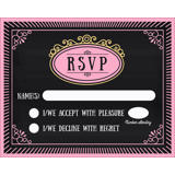 Chalkboard A - 1 Sided RSVP
