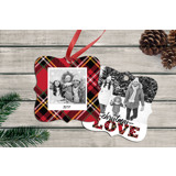 Christmas Love Square Ornate Ornament