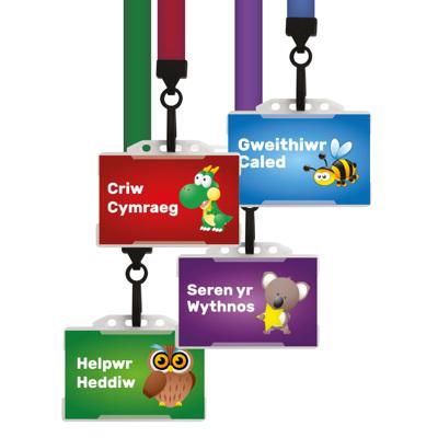 20 x Pupil Badges Set - Cymraeg