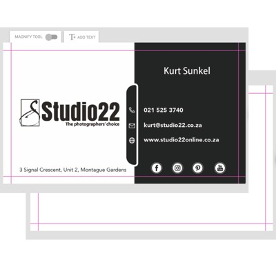 Double Sided Cards -50x90mm
