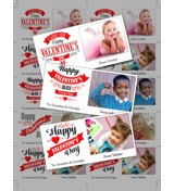 8.5 x 11 with 10 Mini Valentine Cards - A