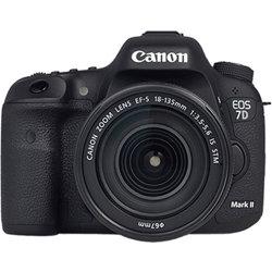 Canon-EOS 7D Mark II Digital SLR Camera with EF-S 18-135mm IS STM Lens - Black-Digital Cameras