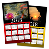 One Page Yearly Wall Photo Calendars 2018