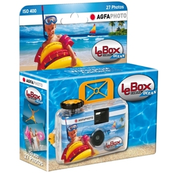 Agfa-Single Use Waterproof LeBox Ocean 400 Camera - 27 Photos-Film Cameras
