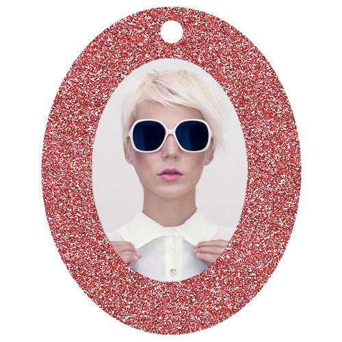 Oval Framed (Red Sparkle )