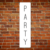 2 ft x 6 ft Paper Party Banner Vertical