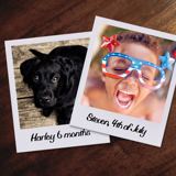 Medium Retro Portrait Prints - Set of 6 - each print is 4 x 5