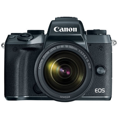 Canon-EOS M5 Mirrorless Camera with EF-M 18-150mm IS STM Lens-Digital Cameras