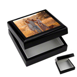 Photo Keepsake Box Black
