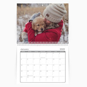 Calendar 8.5 x 11 Spiral Bound - 2022