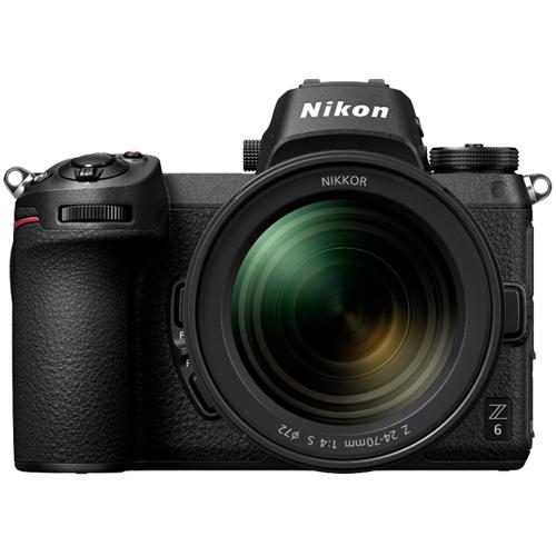 Nikon-Z6 Interchangeable Lens Mirrorless Camera with Nikkor Z 24-70mm F4 S Lens - Black-Digital Cameras