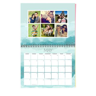 Center Bound Brushed Calendar: 2018