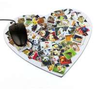 "Mouse Pad Heart Shape size 230mm x 203mm x 3mm thick  code"" MP230H"