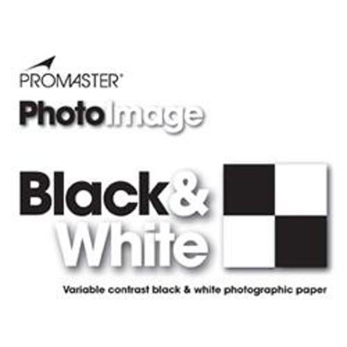 ProMaster-PhotoImage Black and White Photographic Paper - 8x10'' Glossy - 25 sheets #3038-Photo enlargement paper
