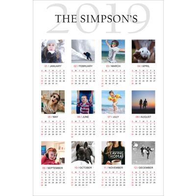 12 x 18 Poster Calendar