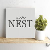 "Our Nest 18"" Square Canvas Print"