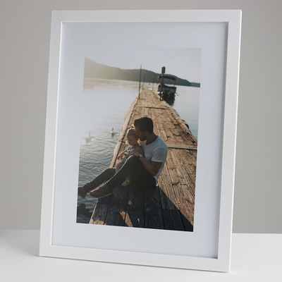 300x400mm Print in a 20mm White Frame with a 200x300mm image  (50mm white space on all sides)