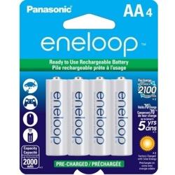 Panasonic-Batteries Rechargeables AA Eneloop 2000mAh #BK3MCCA4BF-Piles