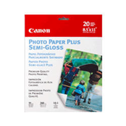 Canon Photo Paper Plus Semi Gloss 20 Sheets 85 X 11 Pp 101 Paper