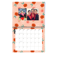 11 x 8.5 Wall Calendar (Floral Background) 2019