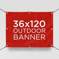 """36"""" x 120"""" Outdoor Banner"""