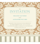 Vintage D - 1 Sided Invitation