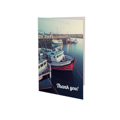 (6 PACK ) 3.5x5 Folded Card - Vertical