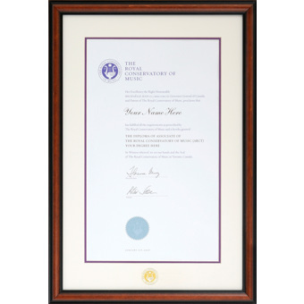 rcm traditional wood diploma frame 1421wd rcm royal conservatory of music diploma - Music Picture Frame