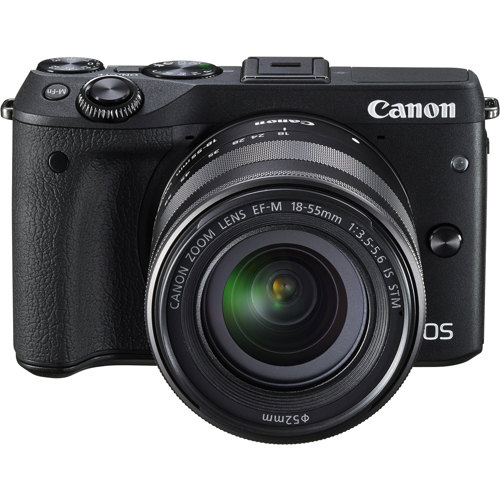 Canon-EOS M3 Interchangeable Lens Camera with EF-M 18-55mm IS STM Lens -Digital Cameras