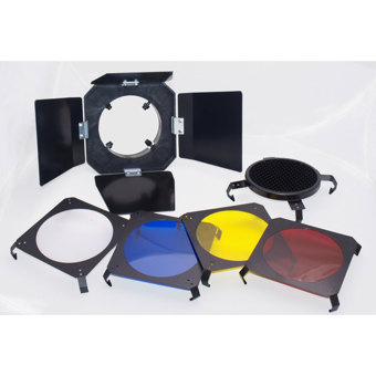 ProMaster-3 in 1 Barndoor Kit for SystemPro 160A Studio Flash #1754-Miscellaneous Studio Accessories