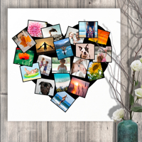 20 x 20 Heart Collage Canvas (20 photos)