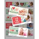 8.5 x 11 with 10 Mini Valentine Cards - B