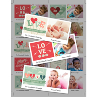 8.5 x 11 with 10 Mini Valentine Cards - B