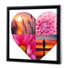 12 x 12 Framed Canvas Heart Collage - 4 photos