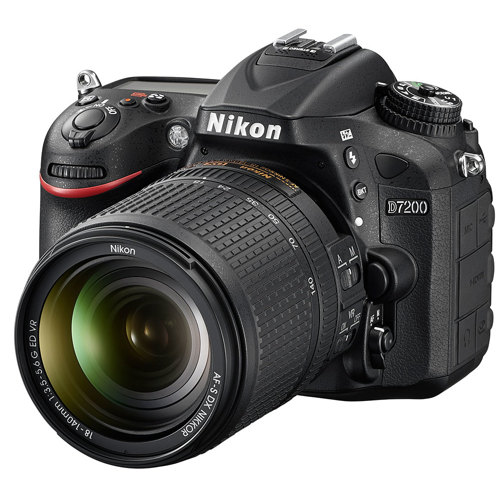 Nikon-D7200 DSLR Camera with Full HD Recording with NIKKOR 18-140mm G ED VR Lens - Black-Digital Cameras