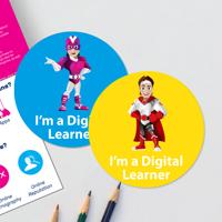 250 x Digital Learner Stickers