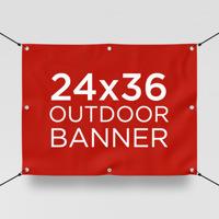 """24"""" x 36"""" Outdoor Banner"""