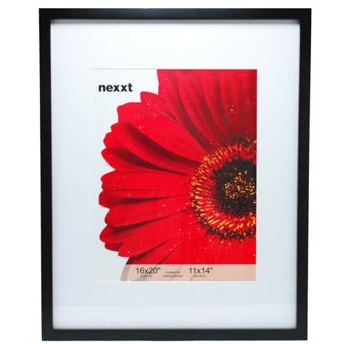 """Nexxt Design-Gallery 16""""x20"""" Matted to 11""""x14"""" Wood Frame - Black #PN00942-6-Photo Frames"""