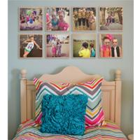 Wall Art canvas, natural wood, photo panels