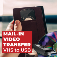 VHS,  8mm video, Mini DVD, VHS-C to USB