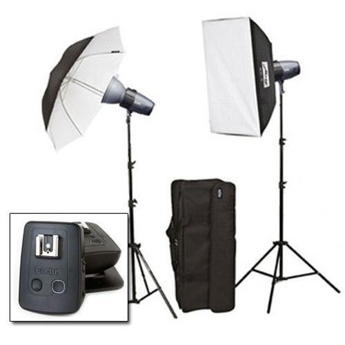 Metz-Mecastudio BL-200 SB/UM II kit with Cactus V5 Duo #MZ009212029C-Studio Lighting Kits
