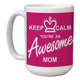 15 oz Ceramic Mom Mug (B)