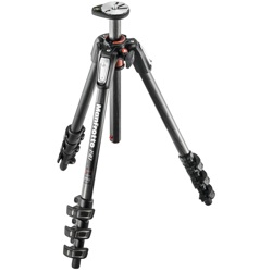 Manfrotto-190 Carbon Fiber 4-section Tripod, with Horizontal column #MT190CXPRO4-Tripods & Monopods