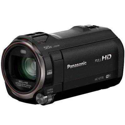 Panasonic-HC-V770 Full HD Camcorder - Black-Video Cameras
