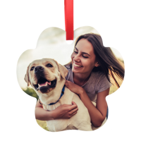 Metal Pet Paw Ornament