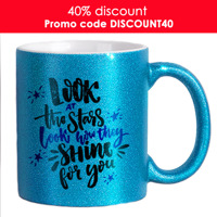 Mug - Glitter Blue