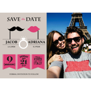 Retro - 1 Sided Save the Date  5x7