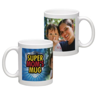 White Coffee Mug 11oz (wrap) Mom - F