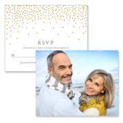 Confetti - 2 Sided RSVP  4x5